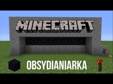 Minecraft : Poradnik [#1] - Jak Zrobić Obsydianiarke [maszyna Do Tworzenia Obsydianu] !