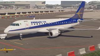X-plane 11 | SSG E-Jets 170 | Проба модели