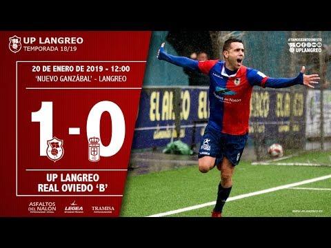 Resumen del partido entre el UP Langreo y el Real Oviedo B