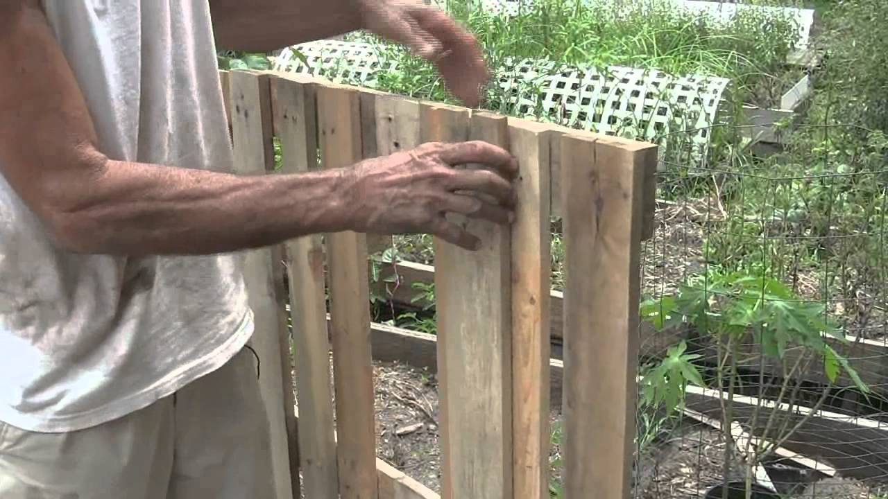 How To Build A Raised Bed Garden Using Pallets Youtube