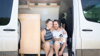 FINALLY REVEALING OUR NEW HOME + last day of our diy van conversion