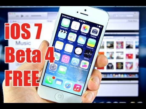 How To Install & Update iOS 7 Beta 4 FREE For iPhone 5/4S/4 iPad 4/3/2/Mini Without Registering UDID