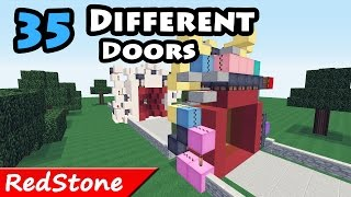Minecraft: 35 Different Doors in 120 seconds / redstone creations / +DOWNLOADS