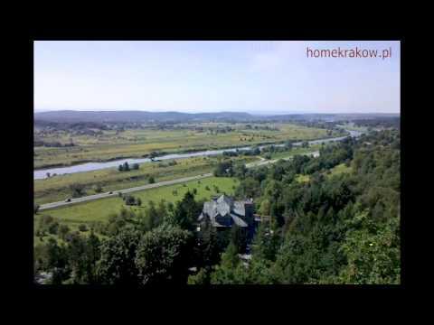 Zamek w Przegorzałach Kraków - widok na działki Tyniec Kraków