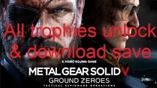 download lagu Metal Gear Solid V: Ground Zeroes Ps3 100% Trophies gratis