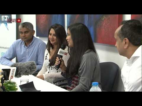 Bollywood Singer Harshdeep Kaur at Leicester Press Conference...