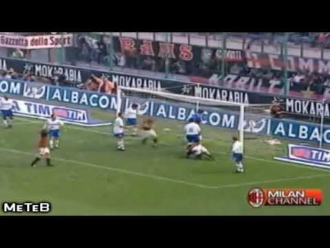 Alessandro Nesta All Goals With Milan - Goodbye LEGEND