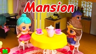 LOL Surprise Dolls Wrong Clothes in Giant Mansion Dollhouse Toy Video