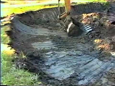 Pond dig youtube for Building a 1 acre pond