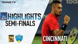 Highlights: Kyrgios, Dimitrov Reach Masters 1000 Final In Cincinnati 2017