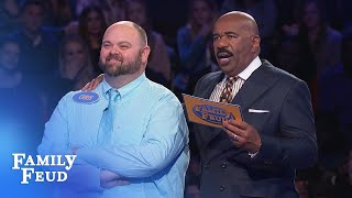 Q: Something that comes in pairs? Chris: BOOBS | Family Feud