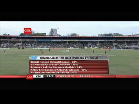 Ccl4 Veer Marathi Vs Mumbai Heroes 1st Inn Match In Hyderabad - Part3 video