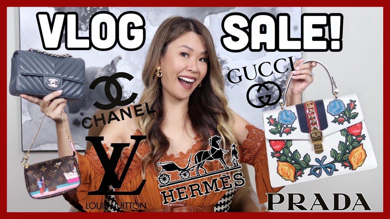 HUGE VLOG SALE - 15 items! CHANEL, LV, GUCCI, HERMES | Shop my closet!