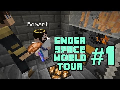 Minecraft (Tagalog) EnderSpace Server WORLD TOUR with d3mz! #1