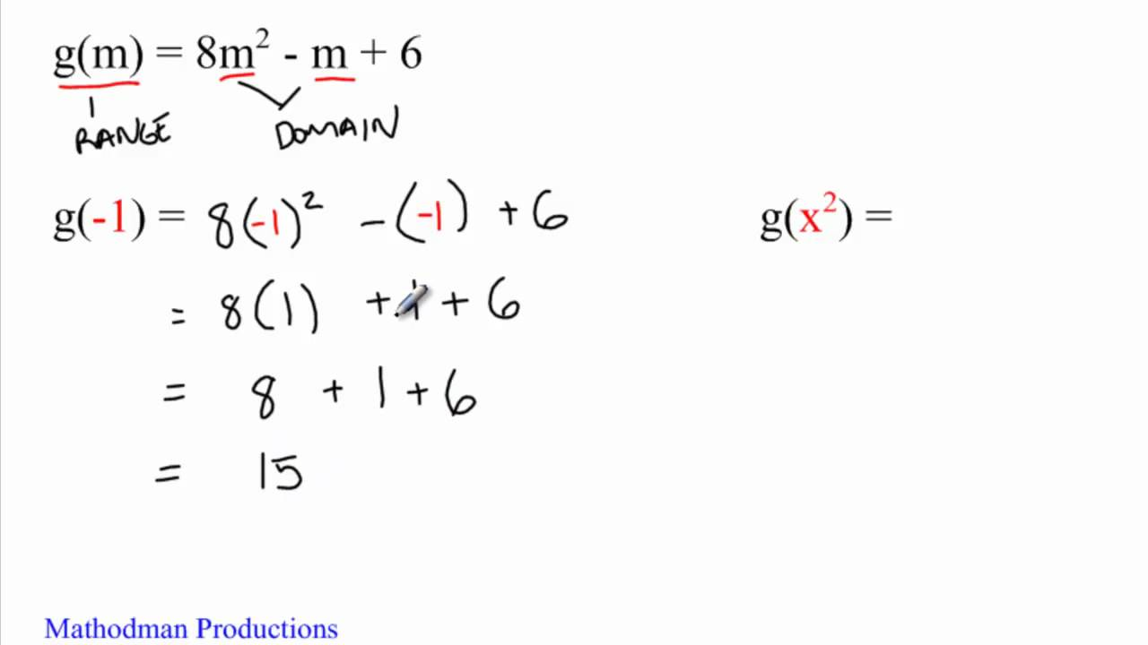 Five(5) Minute Math - Function Notation - Algebra - YouTube