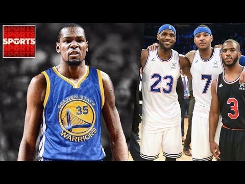 Warriors with KEVIN DURANT vs. LeBron James SUPER TEAM [NBA 2k What If]
