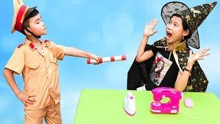Trò Chơi Mụ Phù Thủy Thích Ăn Trộm ♥ Min Min TV Minh Khoa