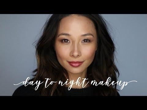 Easy Day To Night Makeup Tutorial   Burts Bees Makeup Review   Aja Dang