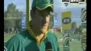 presentation cermony pakistan v.s south africa 1rst odi