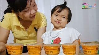 Bé chơi trò chơi bán kem ly với ăn kem ly cùng mẹ❤Ngân hà TV❤