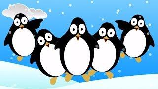 Năm chim cánh cụt nhỏ | nhac thieu nhi hay nhất | Five Little Penguins | Kids Baby Club Vietnam
