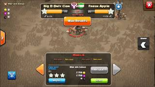 Clash of Clans: Clan Wars! Battle Day! Tutorial- Gameplay- Tips (Last24hrs)