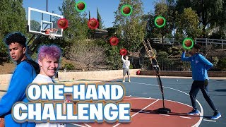 1v1 One-Handed Basketball Challenge vs Jesser - Who's the Best?