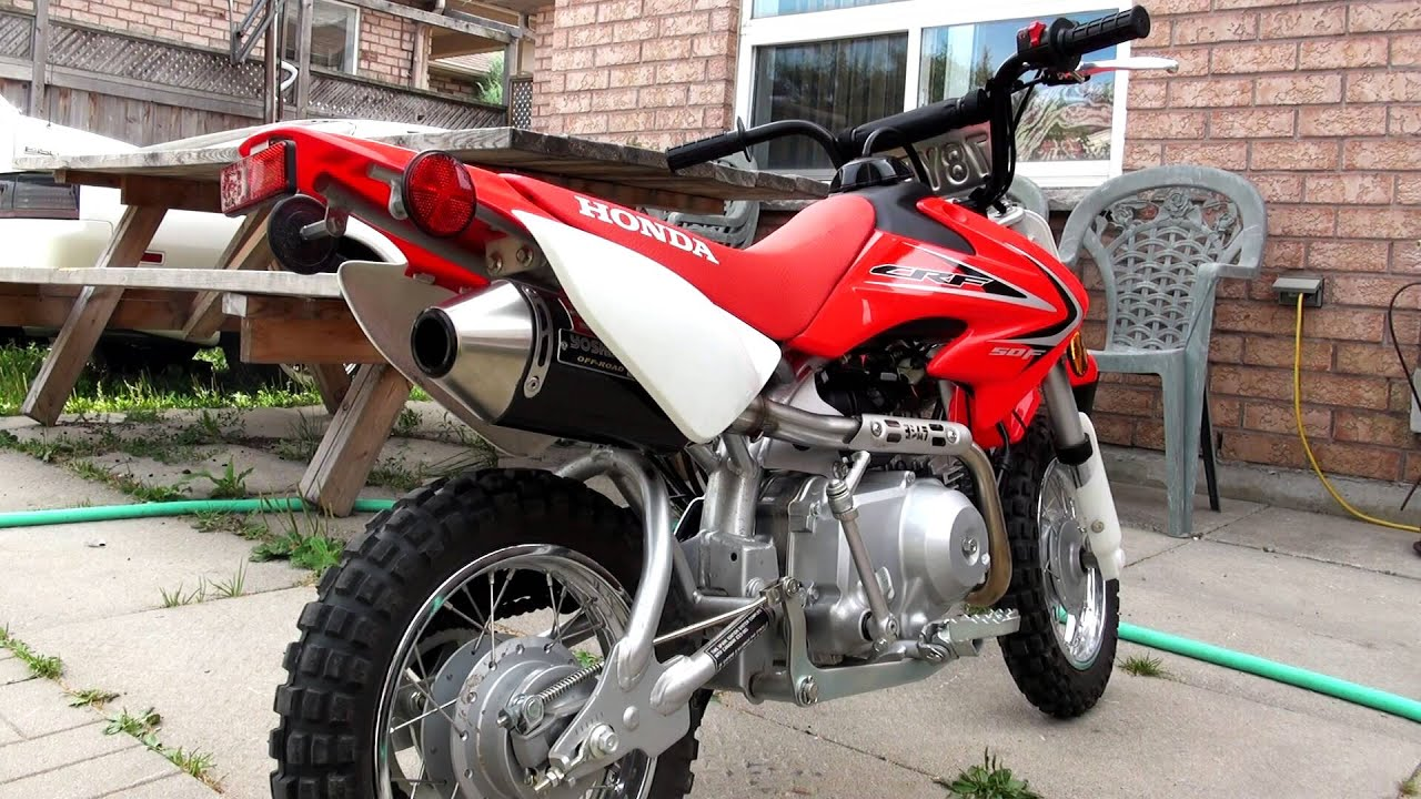 2012 Honda Crf50 Yoshimura Rs 2 System Youtube