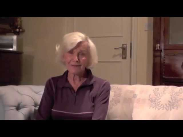 Honor Blackman wishes Blind Veterans UK a happy 100th birthday