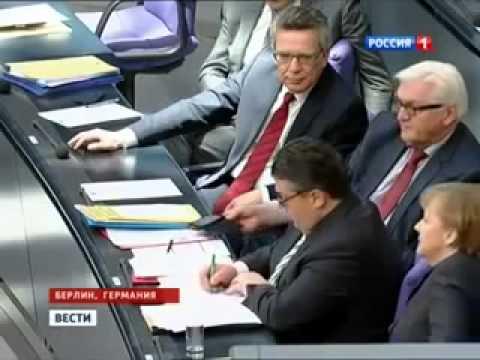 МЕРКЕЛЬ ОСУДИЛИ В БУНДЕСТАГЕ  За поддержку Фашистов на Украине 14 03 2014