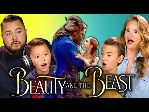 BEAUTY AND THE BEAST TRAILER REACTION | Kids & Parents React