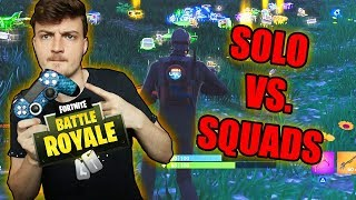 KRANKE SOLO VS. SQUADS RUNDE | Fortnite - ViscaBarca