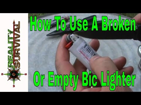 Survival Skills: How To Use A Broken Or Empty Bic Lighter