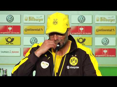 Pressekonferenz: Jürgen Klopp nach dem DFB-Pokalfinale BVB - VfL Wolfsburg (1:3)