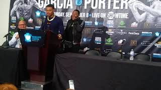 "Errol Spence""Ill stop Tank Davis in 3rd"" TANK want 2 spar Errol 4 Porter camp"
