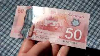 New Canadian $50 Bill Waterproof Test