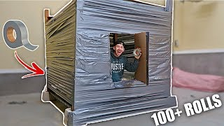 UNBREAKABLE DUCT TAPE FORT!! (100 LAYERS)