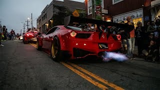 Ferrari 458 GT3 SHOOTING FLAMES With Thousands of People!