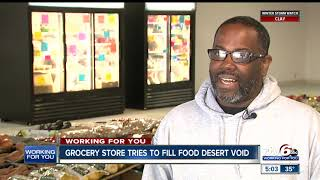 Grocery store tries to fill food desert void