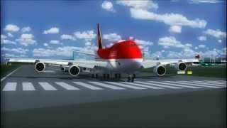 AVIANCA 747 TAKE OFF  DUBLIN AIRPORT FS9