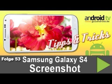 how to make screenshot on samsung s4