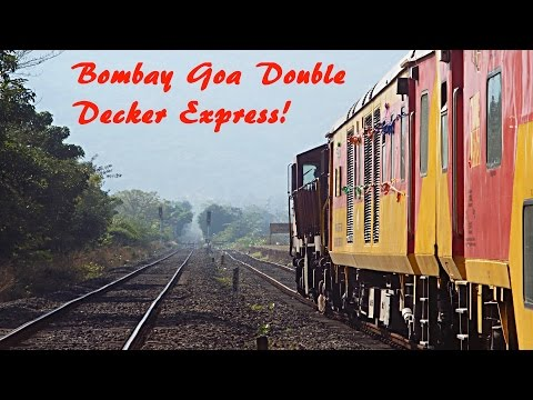 Bombay to Goa || The first run of the Double Decker AC Express; full journey compilation!!!