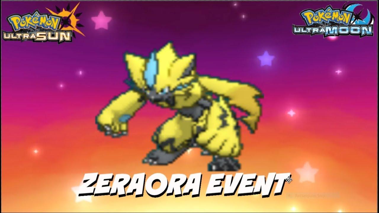 ZERAORA EVENT OUT NOW POKEMON ULTRA SUN AND MOON ZERAORA