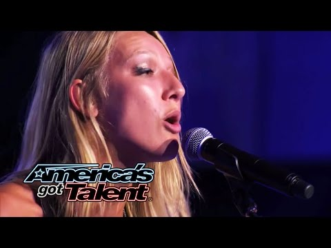 "Carly Jo Jackson: Spunky ""Somebody That I Used To Know"" Cover - America's Got Talent 2014"