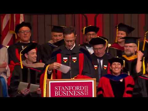 Stanford Graduate School Of Business Diploma Ceremony 2018