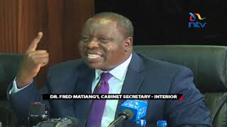 CS Matiang'i tears into the judiciary during security committee inquiry