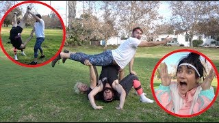 GIRLFRIEND TEACHES US ACROBATICS!!
