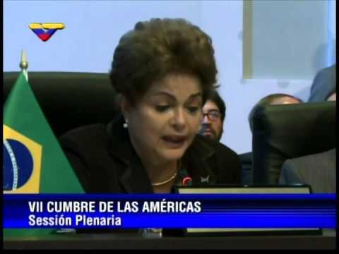 Cumbre de las Américas 2015: Discurso de Dilma Rousseff en la plenaria