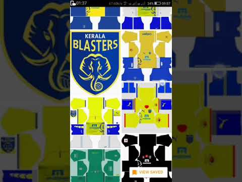 DREAM LEAGUE 2017  KERALA BLASTERS FC LOGO AND KIT     . . . . Link given on description below