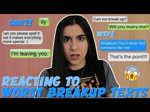 Reacting to the WORST Breakup Texts EVER | Just Sharon